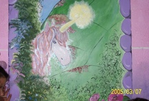 everything girly / unicorn mural painted by Cheryl Seagraves 2007 / by Cheryl Seagraves