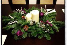Karácsonyi asztal díszek