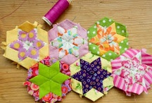 English Paper Piecing~Hexies, Diamonds & More... / by Carolyn Rosier