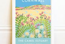 ART: My Happy Place - Cornwall / Joanne Short Vintage style depictions of Cornish towns