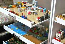 Børneværelse leg og opbevaring