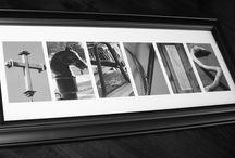 10x22 Framed Alphabet Photography