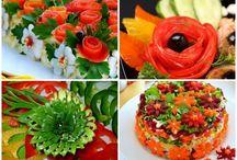 Obst und Gemüse schnitzen, dekorieren