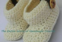 Crochet Baby Shoes, Booties, Sandals / Shop, store. Facebook https://www.facebook.com/TheEntireWorldofHandmadeCrochet/