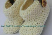 Crochet Baby Shoes, Booties, Sandals / Shop, store. Facebook https://www.facebook.com/TheEntireWorldofHandmadeCrochet/