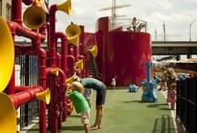Vertical Play Elements / vertical play inspiration - why have a wall where you could have a playscape?