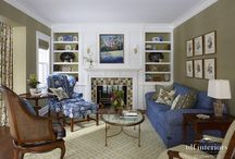 TDF Interiors Design Project: Traditional English Style Living Room in Evanston / Traditional English Style. Living Room. Evanston. Illinois. Interior Designer. Interior Design. Interior Decor. Residential Designer. Residential Design. Home Decor. Home. Chicago North Shore. Design Services. Painting. Fireplace. Furniture. Blue hues. Paint colors. Accessories. Lighting. Window Treatments. Drapery. Floral prints. Patterned decor. Patterns.