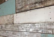 Murs de bois de récupération