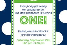 Lukas' first birthday party