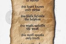 The oath of a knight