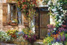 Zatisie-budova s kvetmi