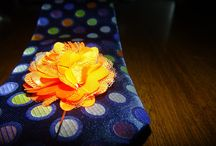 Pins and Ties / Ties with matching lapel flowers!