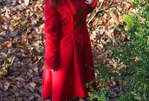 """Red coat / """"Small"""" sewing project which took me a lot of time :) Finally finished!"""