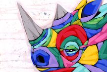 Animal Art / Wonderful, colorful, animal art. / by Cindra Tee