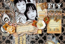 Scrapbook Pages / Creative scrapbook pages created with Darkroom Door Rubber Stamps!