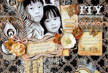 Scrapbook Pages / Creative scrapbook pages created with Darkroom Door Rubber Stamps!