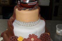 Theme wedding cake