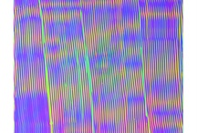 DISTORTION / Photographic Interference patterns creating holographic rainbow, Mind altering, distorted designs.