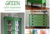 Inspiration | Color & Staging / A collection of inspiring colors for furniture and staging ideas