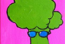 Paintings/Sun Glasses Veggies / Vegetables with an Attitude