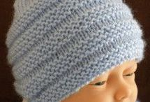 point de tricot : Bonnet bébé