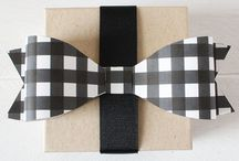 Cards with paperbows and bow downloads