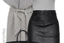 Gray & black fashion