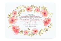 Watercolor Wedding Invitations / Beautiful unique wedding invitations created using watercolor artwork and design.  Soft, sensual and romantic.