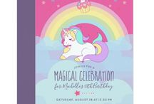 Rainbow Unicorn Birthday Party Suite / Rainbow Unicorn Magical Celebration Birthday package customizable to your event specifics.