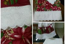 barrados em toalhas motivo natalino