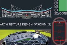 Sport complex Architecture design / Collection of Sport complex architecture design like: stadiums, arenas and swimming pools. (Auto-Cad drawings)