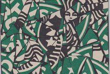 Starbucks / Artworks which contain the Starbucks logo