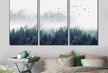 Décoration d'intérieur, set toiles.