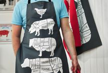 The Butchers' Collection / A new refined ranged of textiles, aprons, tea towels, oven mitts and prints. Perfect for the budding chef, gourmet or meat enthusiast.