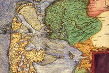 oude landkaarten.