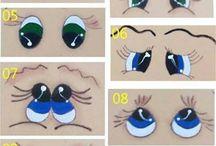 глазки рисованные