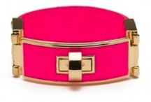Holiday Sale! / hot pink lock bracelet on sale