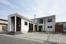 外観 四角屋根の家 / 池下建設が設計、施工をしたBOX型の外観。