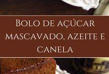 bolo de açúcar mascavo,azeite e canela