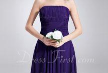 Robes demoiselle d'honneur violettes