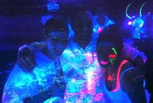 Glow Parties / Glow party products, ideas, tips, and suggestions. How to host an amazing glow party with black lights and neon colours.