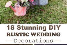 Rustik düğün dekorasyonları