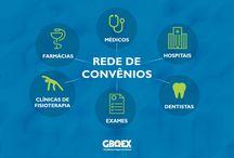 Rede de Convênios GBOEX / Algumas das vantagens que você vai encontrar na Rede de Convênios. Saiba mais acessando http://www.conveniosgboex.com.br/