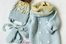 Kompletíky pre bábätká ... hačkované & štrikované