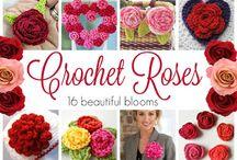 flores teñidas al crochet