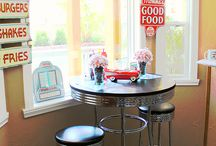 Retro Diner Party Ideas / Diner and 1950s retro party ideas