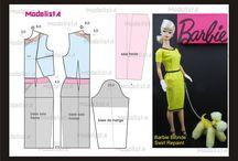 Moldes de roupinhas da Barbie