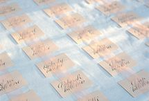 // escort cards // / by Kristeen LaBrot
