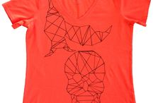 T Shirts - Paisley Lounge / Hand drawn and designed t shirts - using fabric pens and paints.