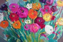 Oil painting flowers / Art
